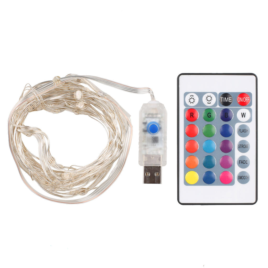Led String Lights Battery Usb Powered Waterproof 5M 50Leds Remote Control Christmas Costumes | Edlpe