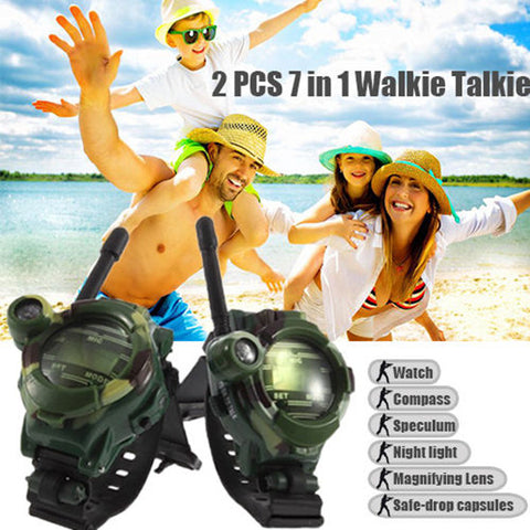 2Pcs 7 In 1 Walkie Talkie Watch Child Wrist Watch Radio Outdoor Interphone Toy | Edlpe