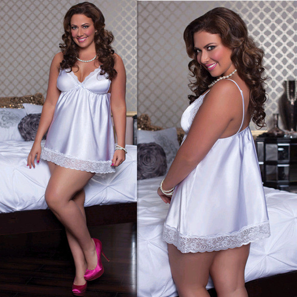 Sexy Lingerie Lace Babydoll Dress Sleepwear Nightwear Underwear Plus Size | Edlpe