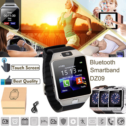 Bluetooth Smart Watch Phone & Camera Support Sim Card For Android/ios Phone Dz09 | Edlpe