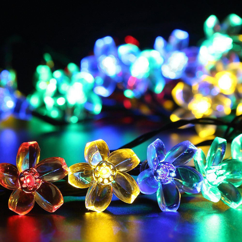 50Leds Flower Fairy Lights Outdoor Led Garland Party Wedding Christmas Decor | Edlpe