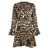 Image of Stylish Leopard Print Flounces Dress | Edlpe