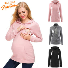 Maternity Nursing Hoodie Breastfeeding Sweatshirt Blouse Pullover Top | Edlpe