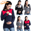Image of Women Long Sleeve Hooded Hoodie Maternity Tops Nursing Feeding Hoody T-Shirts | Edlpe