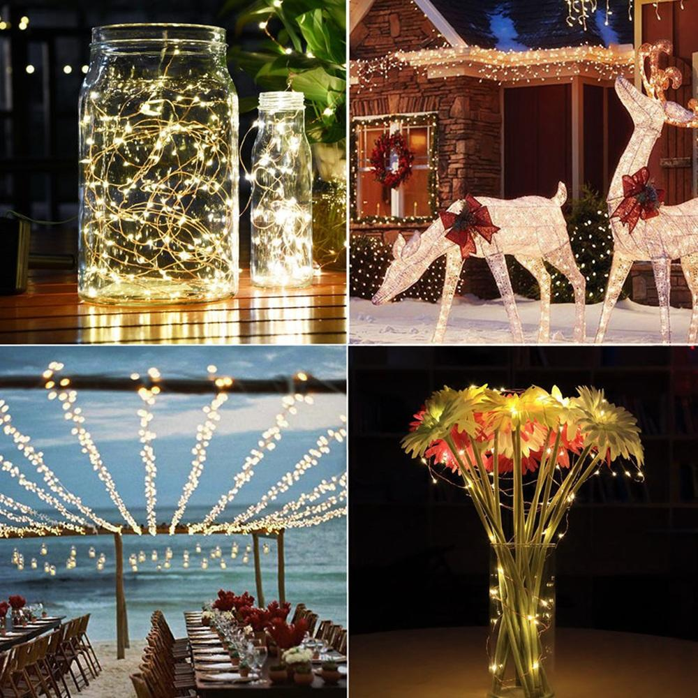 Ir Remote Battery Copper/silver Wire 5/10M Led String Fairy Light Outdoor Lamp | Edlpe
