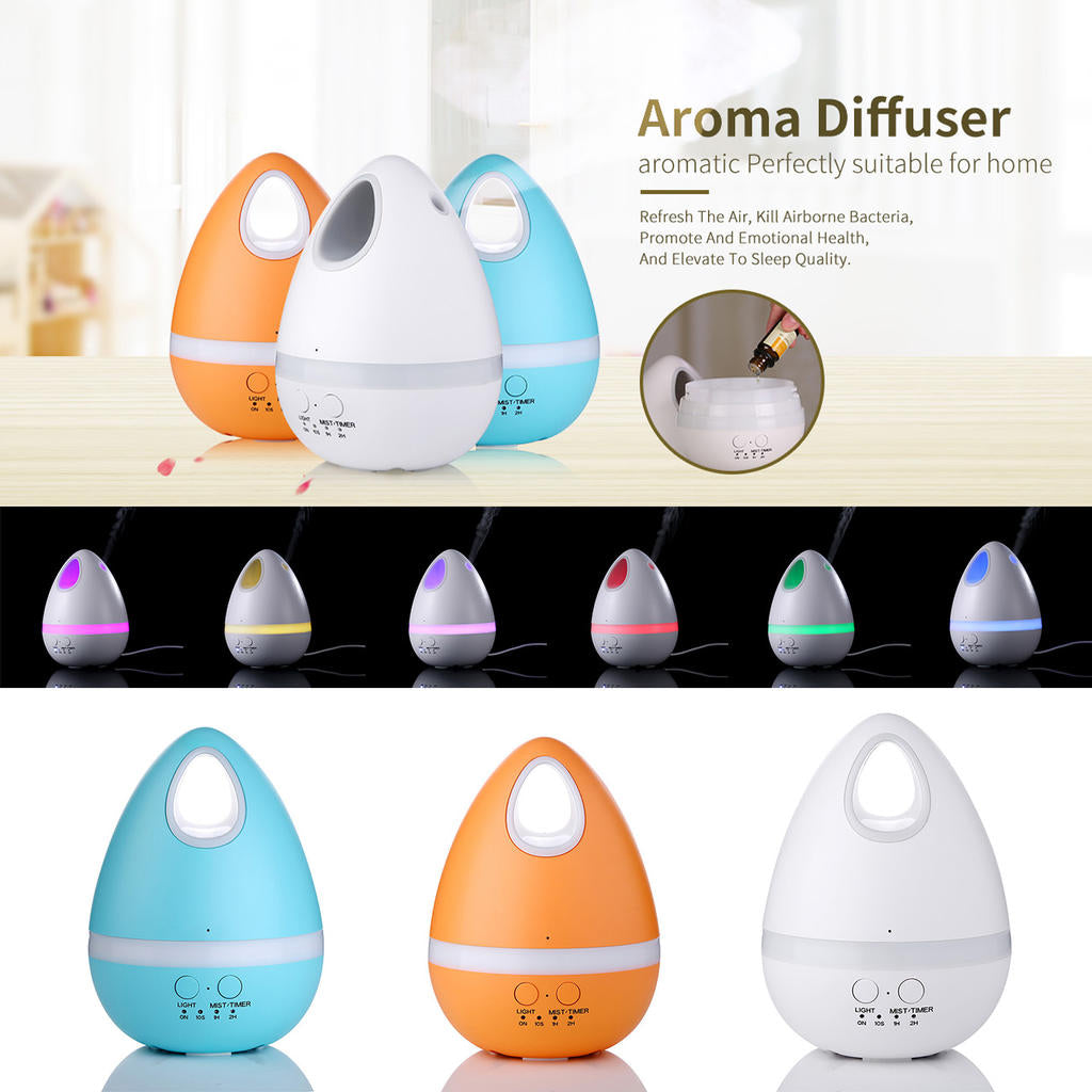 Cute 200Ml Aroma Oil Diffuser Eggs Shape Ultrasonic Cool Mist Humidifier | Edlpe