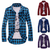 Image of Mens Check Shirt Brave Soul Flannel Brushed Cotton Long Sleeve Casual Top | Edlpe