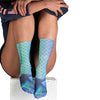 Image of Women 3D Mermaid Print Socks Ladies Knee High Cosplay Beach Costume Stockings