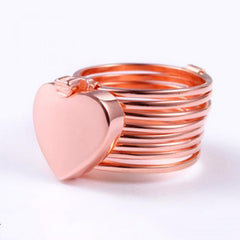 Copper Stretch Ring Changing Bracelet Deformable Dual-use Lord Folding Love Jewelry
