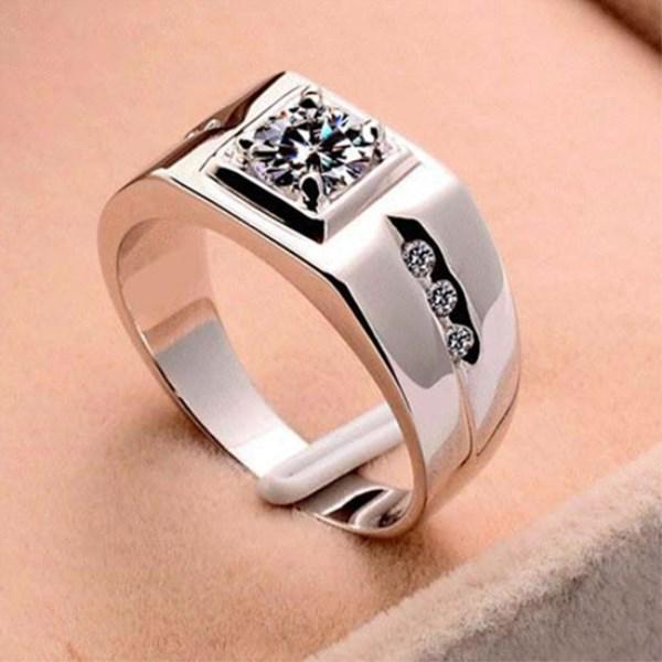 Personality Jewelry For Men Silver Platinum Steel Fashion Bands Party Ring | Edlpe