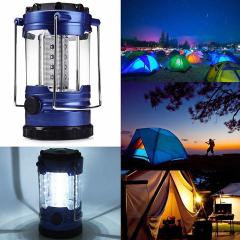 Portable Led Rechargeable Collapsible Outdoor Solar Camping Tent Light Lantern | Edlpe