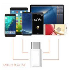 USB C Adapter USB C to Micro USB Convert Connector (4 pack)