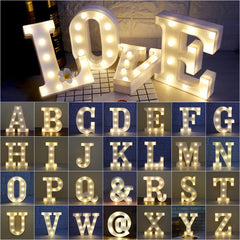 Image of A to Z Alphabet Letter Sign LED Night Light For Home Party Decor