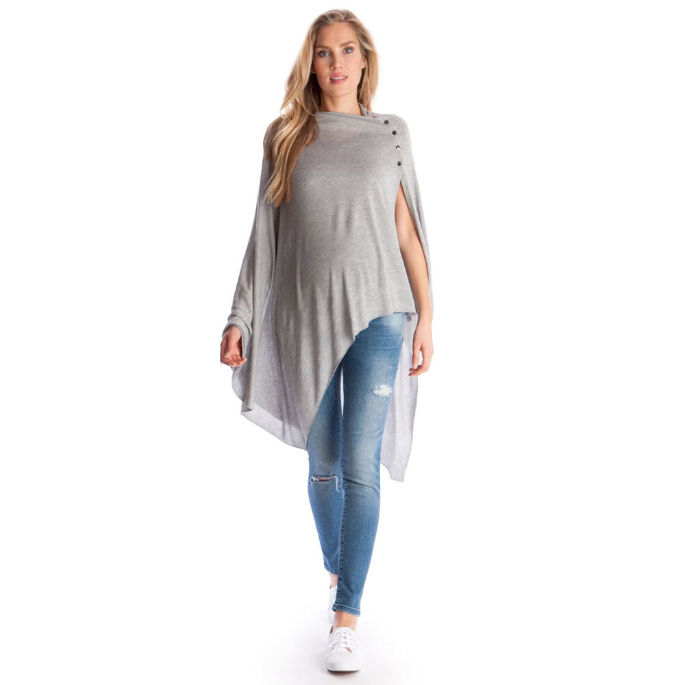 Womens Solid Irregular Maternity Breast Feeding Aw Cover Ladies Tunic Robe | Edlpe