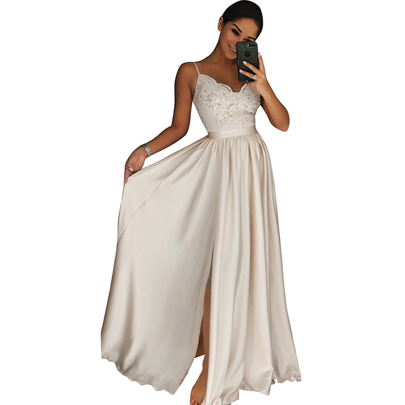 Women Long Dress Evening Party Gown Prom Ladies Beach Bridesmaid Dress Sundress