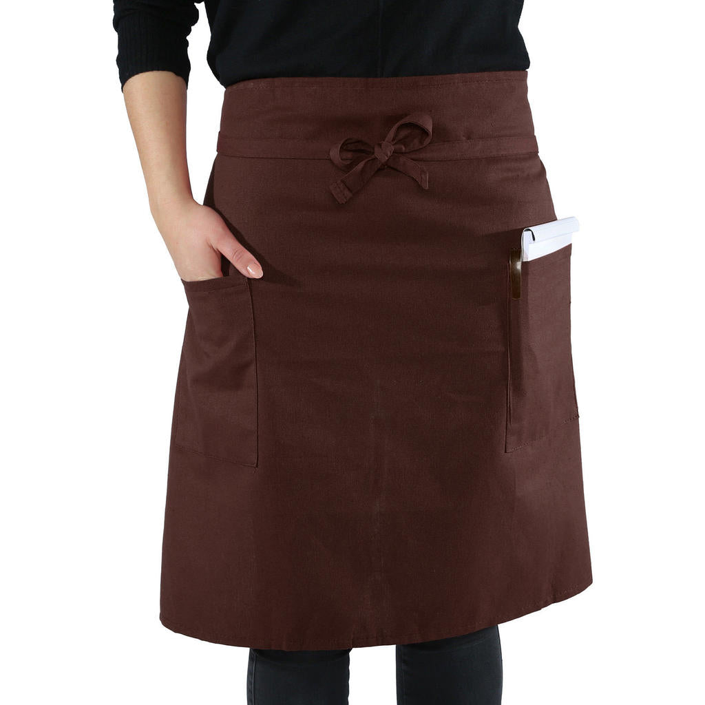 Apron Poly Pocket Butcher Waiter Chef Restaurant Cooking Home Work Bib Unisex | Edlpe