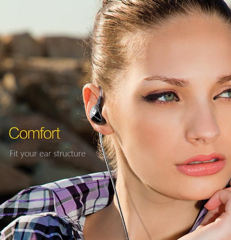Microphone Headsets Headphone Earbuds Earphone Dynamic Driver Hifi Moving Coil Bass | Edlpe