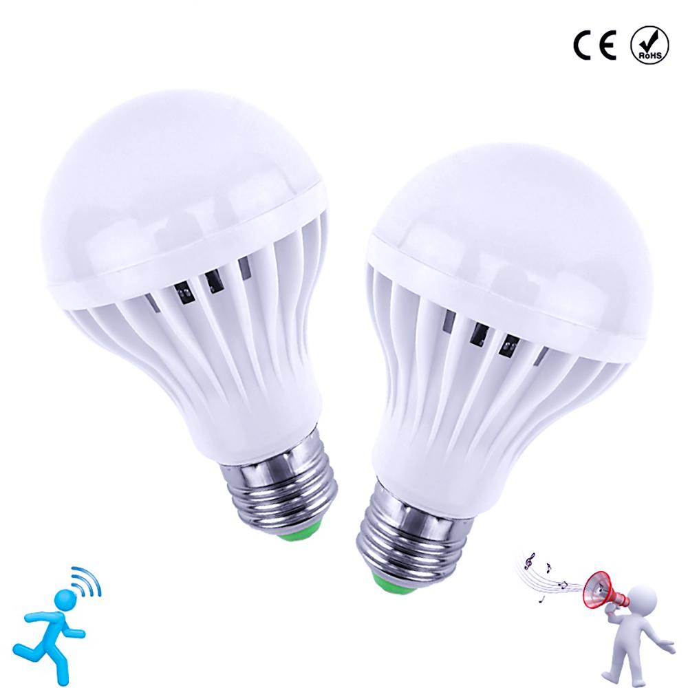 Auto Smart Light Bulbs Sound Voice Sensor E27 Led Bulb Lamps | Edlpe