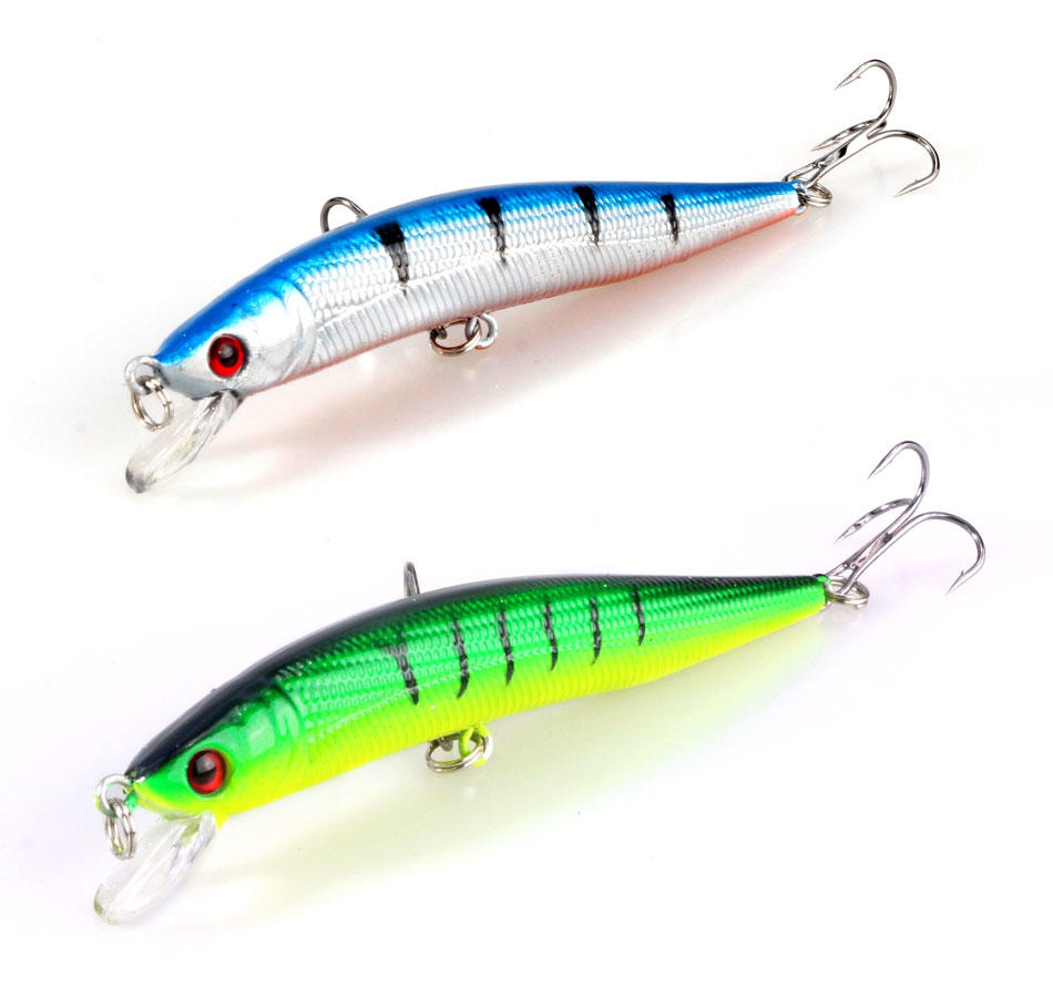 Fishing Lures 9.5Cm/8.5G Plastic Hard Bass Baits Hooks Minnow Lures/10Pcs | Edlpe