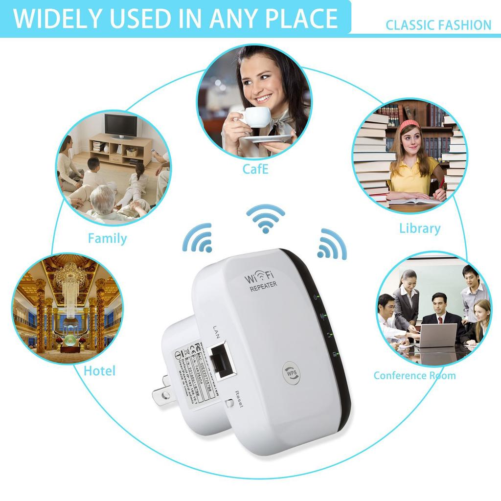 Wireless Wifi Repeater 300Mbps 802.11N/b/g Extender Amplifier Signal Booster | Edlpe