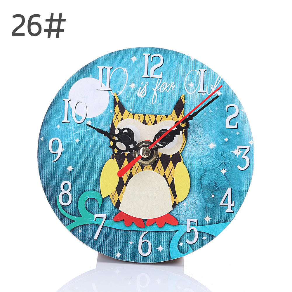 Modern Design Mdf Wooden Wall Clock Vintage Rustic Shabby Chic Home Cafe Decoration Desk Clock | Edlpe