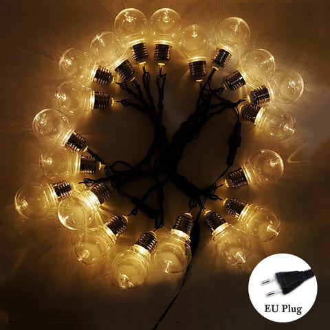 G45 20Leds 6M Clear Globe Festoon Party Ball Fairy String Lights Birthday Decor Lamp | Edlpe