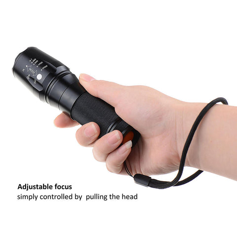 Cree Xm-L T6 Led Zoomable Flashlight Super Bright Torch Lamp Handheld Flashlight | Edlpe