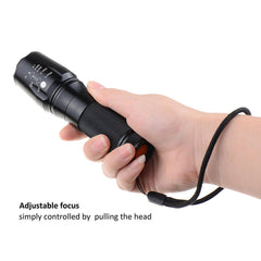 CREE XM-L T6 LED Zoomable Flashlight Super Bright Torch Lamp Handheld Flashlight