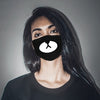 Image of Non-disposable Pattern Print Black color Cotton cold Washable mask Fashion protective face mask