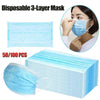 Image of 1/5/10/20/50pcs Pack Disposable 3-layer Non-woven Adult Masks Face Salon Dust Cleaning Flu Masks Earloop