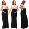 Image of Leisure Pregnant Wear Scoop Collar Sleeveless Stitching Long Dress | Edlpe