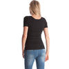 Image of Concise Round Neck Breastfeeding Pure Color Short Sleeves T-Shirt Top | Edlpe