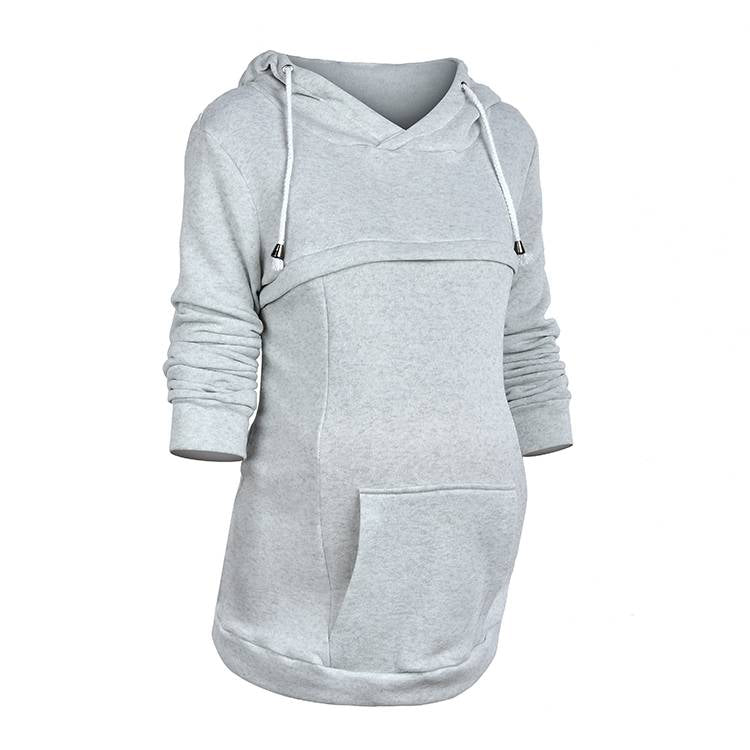 Plus size Multi-functional maternity hoodies Breastfeeding top
