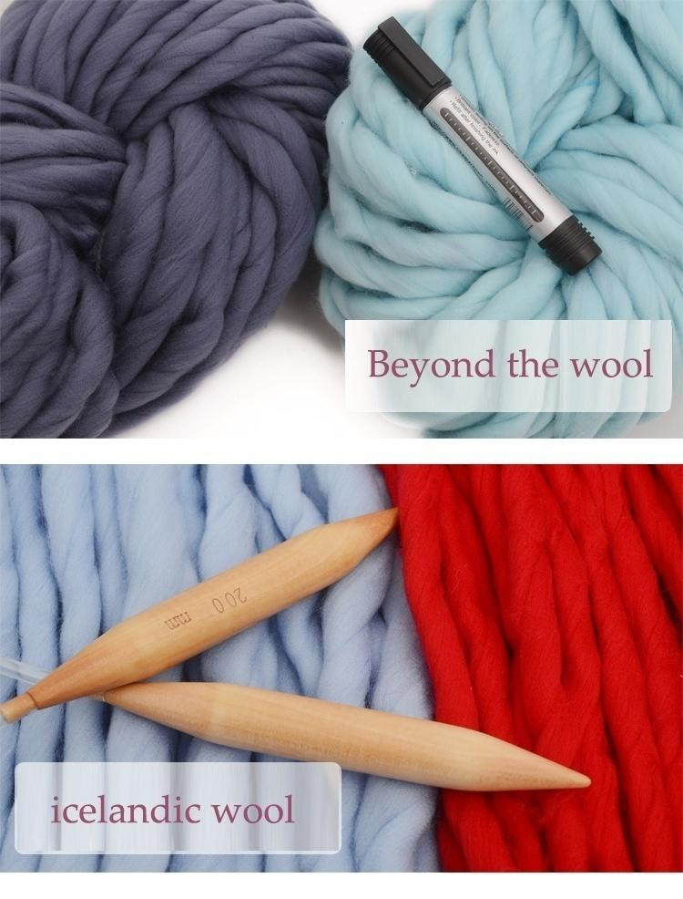 Diy Chunky Wool Yarn Super Soft Bulky Arm Knitting Roving Crochetingr | Edlpe