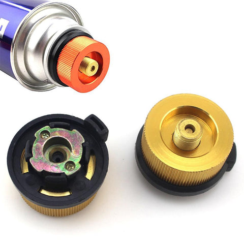 Outdoor Camping Gas Stove Connector Conversion Head Long Flat Tank Gas Stove Bottle Adaptor | Edlpe