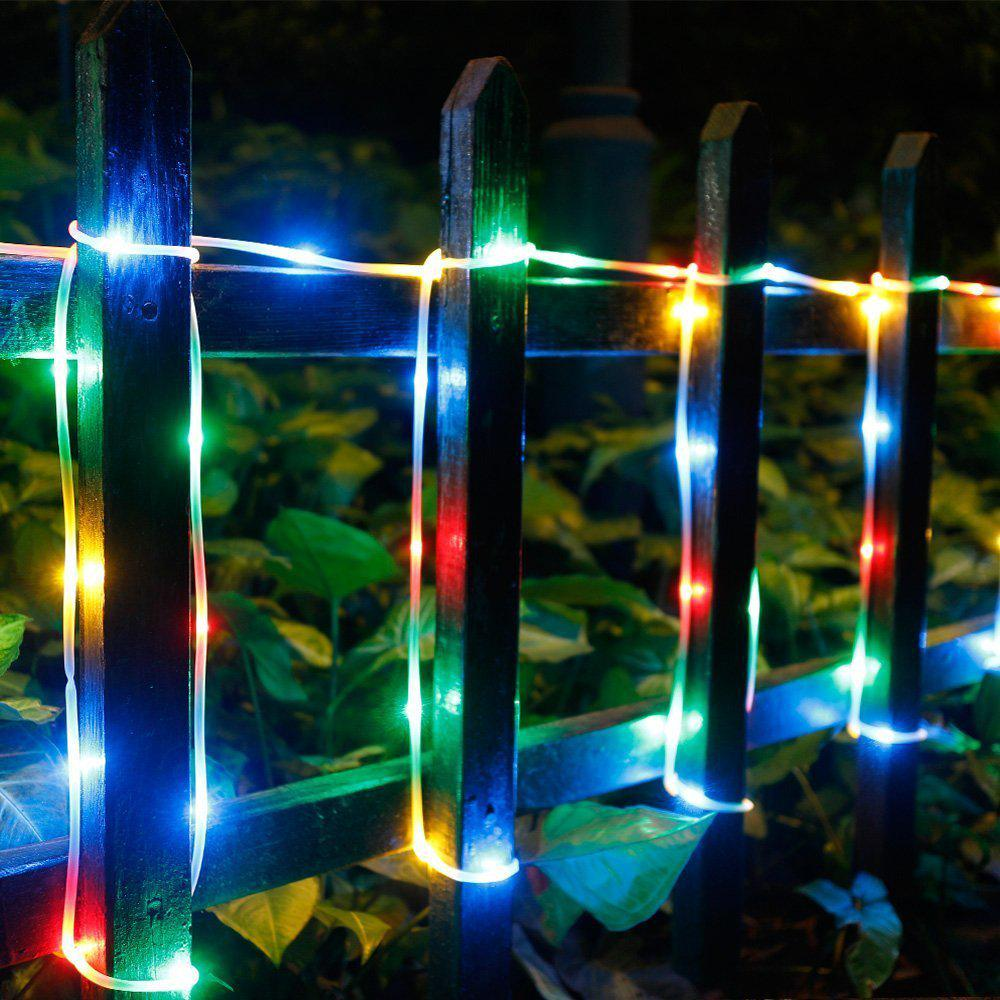 5M 50 Led Silicon Rope String Light Strip Fairy Lamp With Ir Remote Waterproof 8 Modes | Edlpe