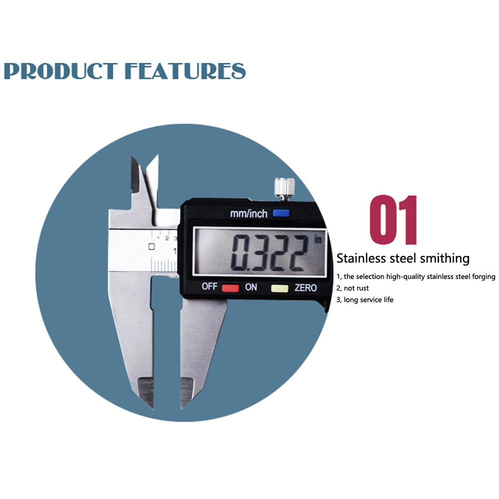 Digital Vernier Caliper Stainless Steel Gauge Lcd Measuring Tool Caliper Gauge | Edlpe