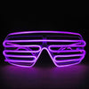Image of El Wire Light Up Glow Window-Shades Led Safety Music Sound Control Glasses | Edlpe