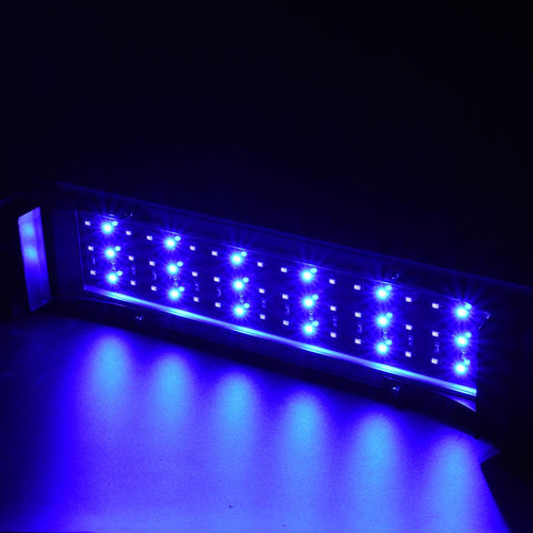 Led Aquarium Light Fish Tank Light Extendable Fish Tank Light Switch Control White+Blue Light | Edlpe