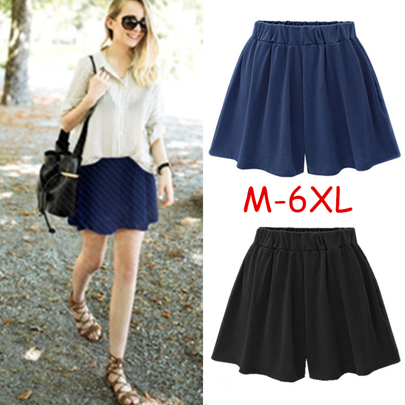 M-6Xl Women High Waist Shorts Ladies Summer Casual Culottes Trousers Pants | Edlpe
