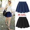 Image of M-6Xl Women High Waist Shorts Ladies Summer Casual Culottes Trousers Pants | Edlpe