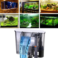 Aquarium Filter Fish Tank Filter External Hanging Fish Tank Power Filter Air Pump Biochemical | Edlpe