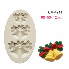Christmas Xmas Theme Decoration Silicone Cake Mould Baking Chocolate Mold