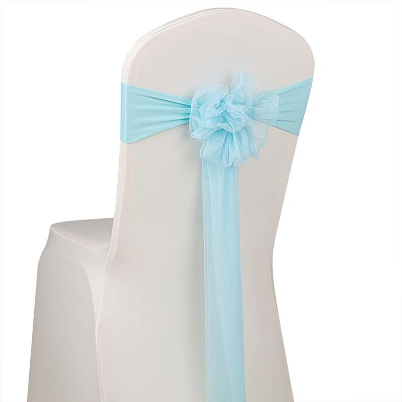 Chairs Flower Organza Chair Cover Sash Bow Wedding Party Reception Banquet Decor | Edlpe