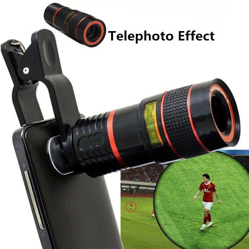 Mobile Phone Lens Wide Angle With Clip On Cellphone Camera Lenses For Iphone Android | Edlpe
