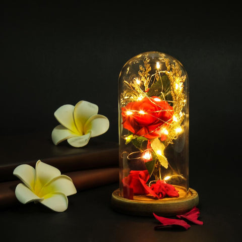 Led Rose Flower Floral Preserved Wedding Romantic Decor Birthday Gift Valentines Day | Edlpe
