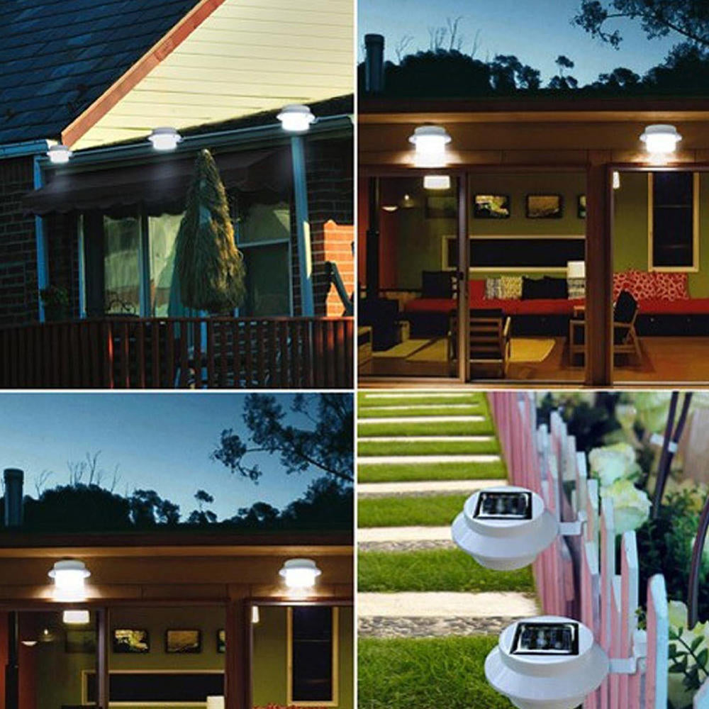 3 Led Solar Fence Light Garden Outdoor Gutter Light | Edlpe