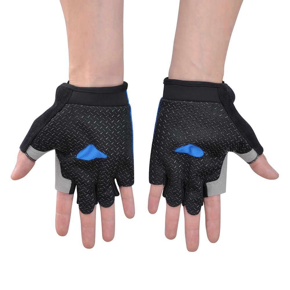 Women & Mens Non-Slip Half-Finger Gel Gloves Outdoor Sports Fitness Bicycle Riding Fingerless | Edlpe