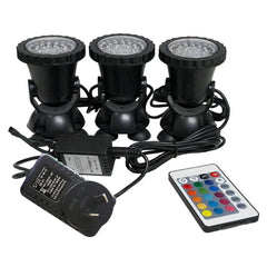 LED Aquarium Light Swimming Pool underwater light 1 Set 3 Lights LED Underwater Spot Light