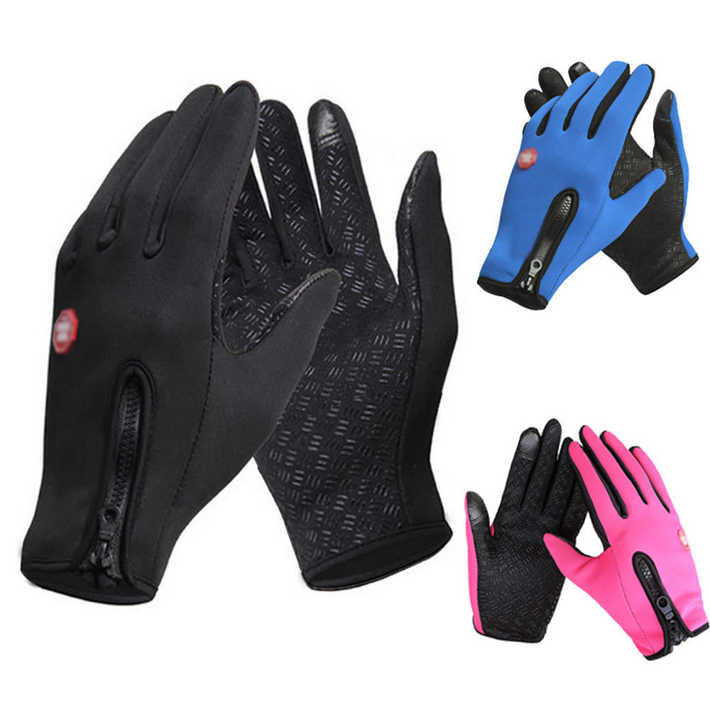 Men Women Winter Touch Screen Windproof Waterproof Outdoor Sport Driving Gloves | Edlpe